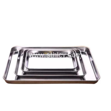 Rectangular Food Tray Stainless Steel Kitchen Cookware